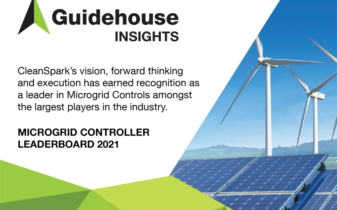CleanSpark Named Top Microgrid Control Vendor in Q1 2021 by Guidehouse Insights
